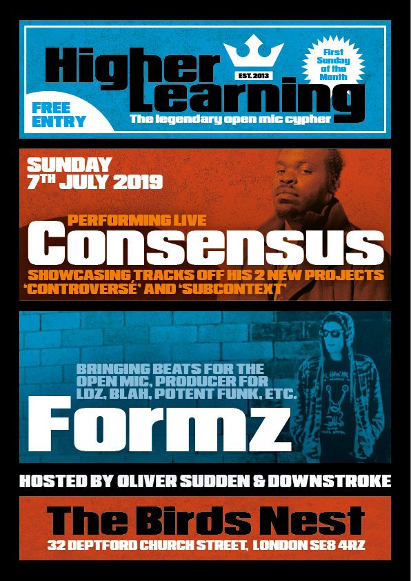 Consenus Rapper Higher Learning London